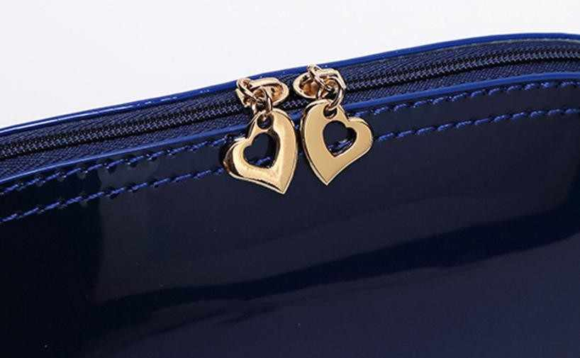 Wanita Padat Permen Warna Zipper Permukaan Terang Clutch Tas Mini perempuan Koin Telepon Tas Tas Pesta Wanita Gadis Lembut Malam tas