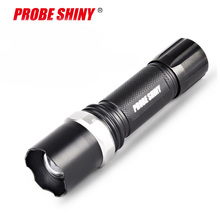 Hot Sale LED Flashlight XML-T6 Tactical flashlight + Q5 Mini Torch Lanterna Zoomable Waterproof Bike