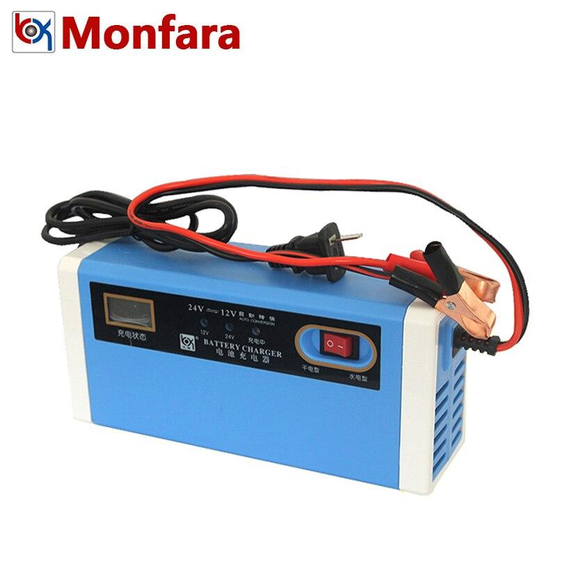 4-200AH Smart Batterie Chargeur pour 12 v 24 v Voiture Bateau Moto Camion Automatique Puissance De Charge Automobile 12 v 24 volts 10A 100AH