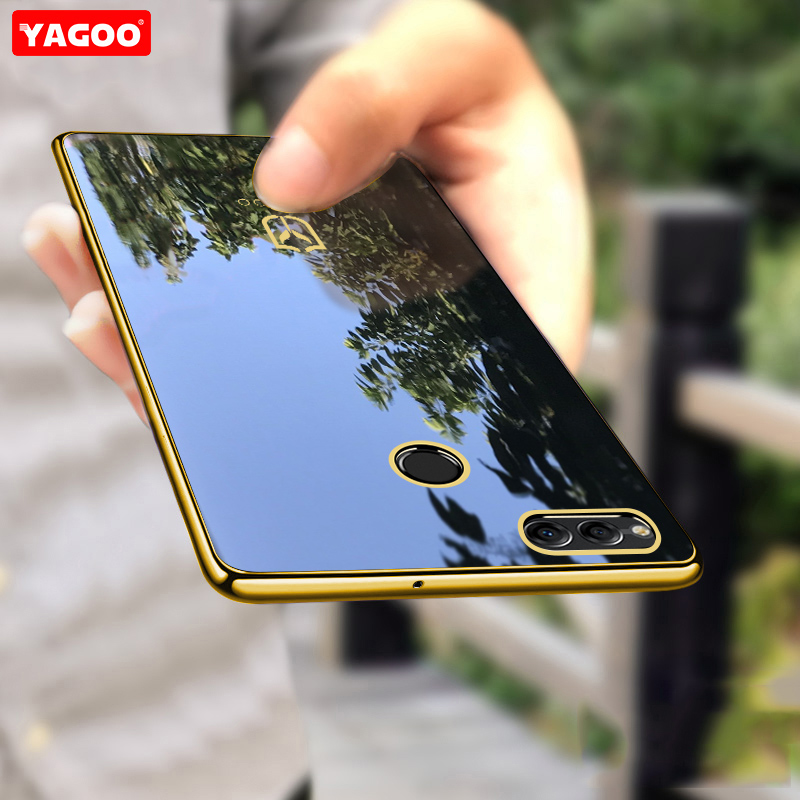For huawei honor 7x case ultra thin plain luxury silicone phone case for huawei honor 7x case gold blue cover for honor 7x Yagoo