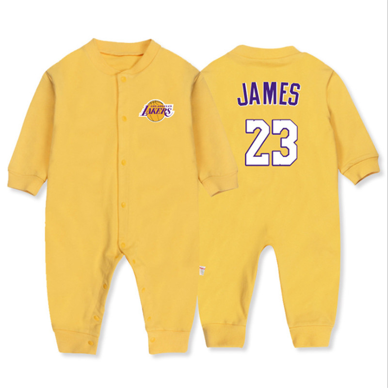 2018 Autumn New Born Boy Clothing 100% Cotton Basketball Long Sleeve   Romper   Baby Sport Clothes Jumpsuit Short Baby Clothing