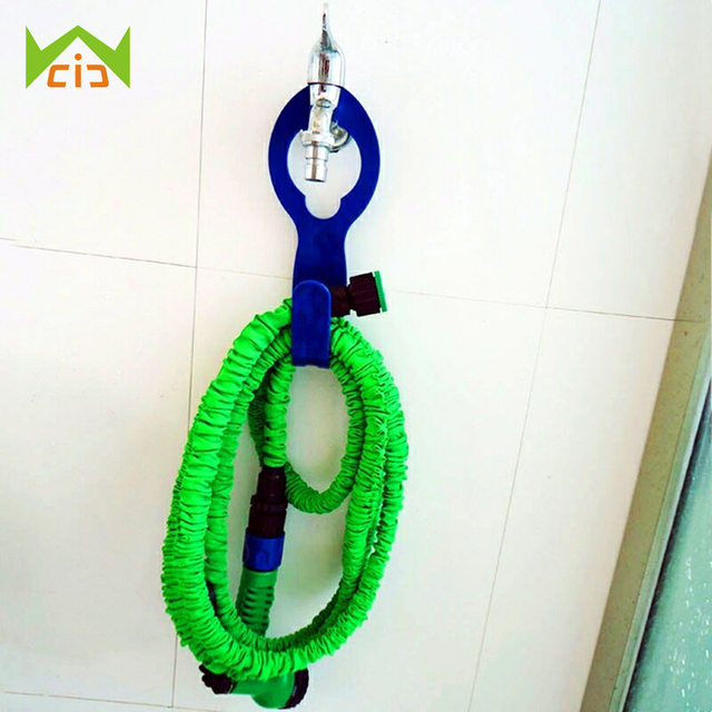 WCIC Plastic Durable Hose Hanger For Using With Expandable Garden Hose  Hosepipe Outdoor Garden Wall Mounted