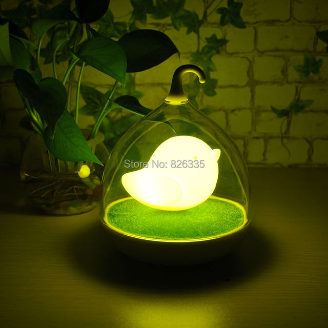 Rechargeable Batteries Led Night Light Children S Lighting Lamp Bird Cage Kid With Sound Control Sensor