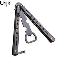 Urijk Multi Fuction Bottle Opener Butterfly Shaped Training Tool For Wine Open Stainless Steel Bar Tool