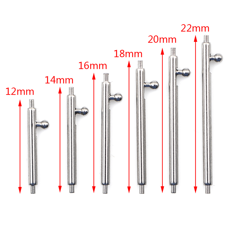 10pcs 16mm 18mm 20mm 22mm 24mm Stainless Steel Bars Strap Link Pin Quick Release Watch Band Single Switch Spring