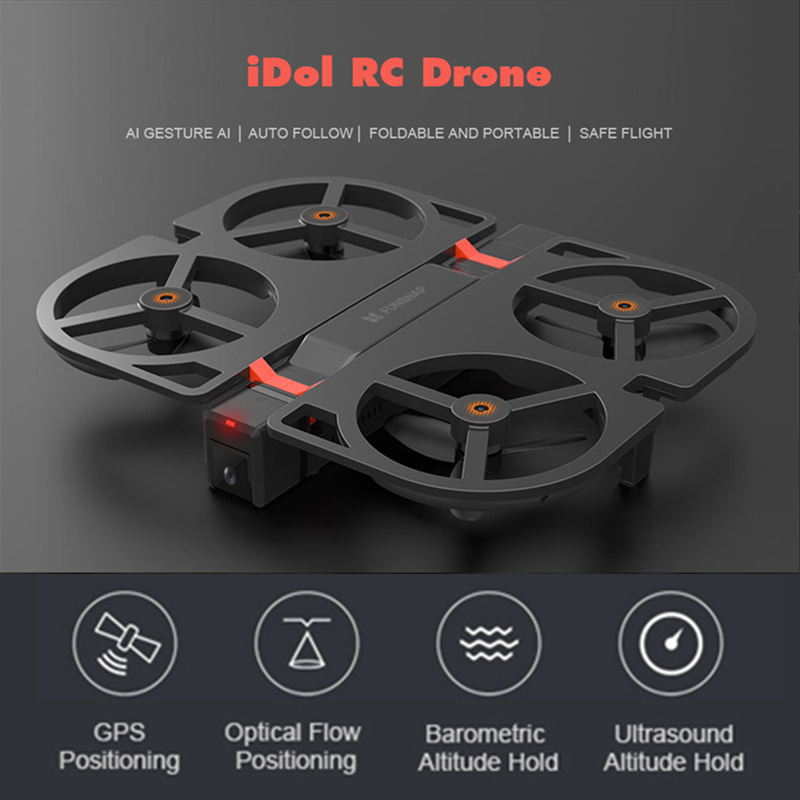 Xiaomi Youpin iDol FPV RC Drone GPS HD 1080P Foldable Camera Drone AI Gesture Control Optical Flow Altitude Hold Quadcopter funsnap idol 2 4g rc drone foldable gps quadcopter with 120 pitch 1080p hd wifi fpv camera optical flow positioning gesture fz