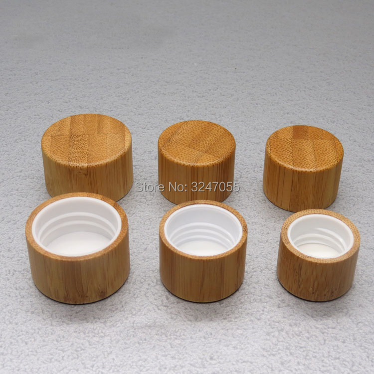 30pcs100pcs 20/410 24/410 28/410 Bamboo Lid for Cosmetic Bottles, Natural Bamboo Screw Cap for Plastic Bottle, Free Shipping 5 bottle natural propolis soft capsule 500mgx100pcs free shipping