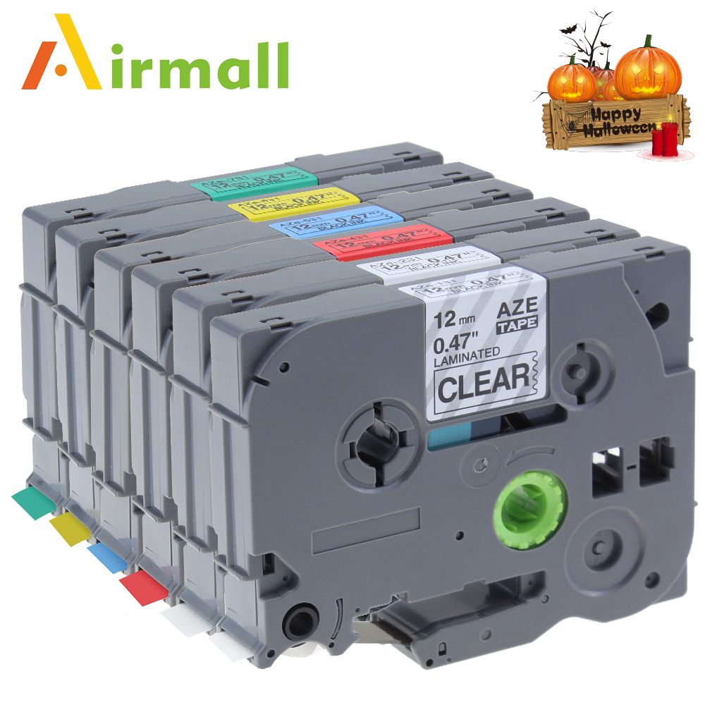 Color printing label maker - Airmall 6 Color Compatible Brother Label Printer 12mm Tze 131 Tze 231 Tze