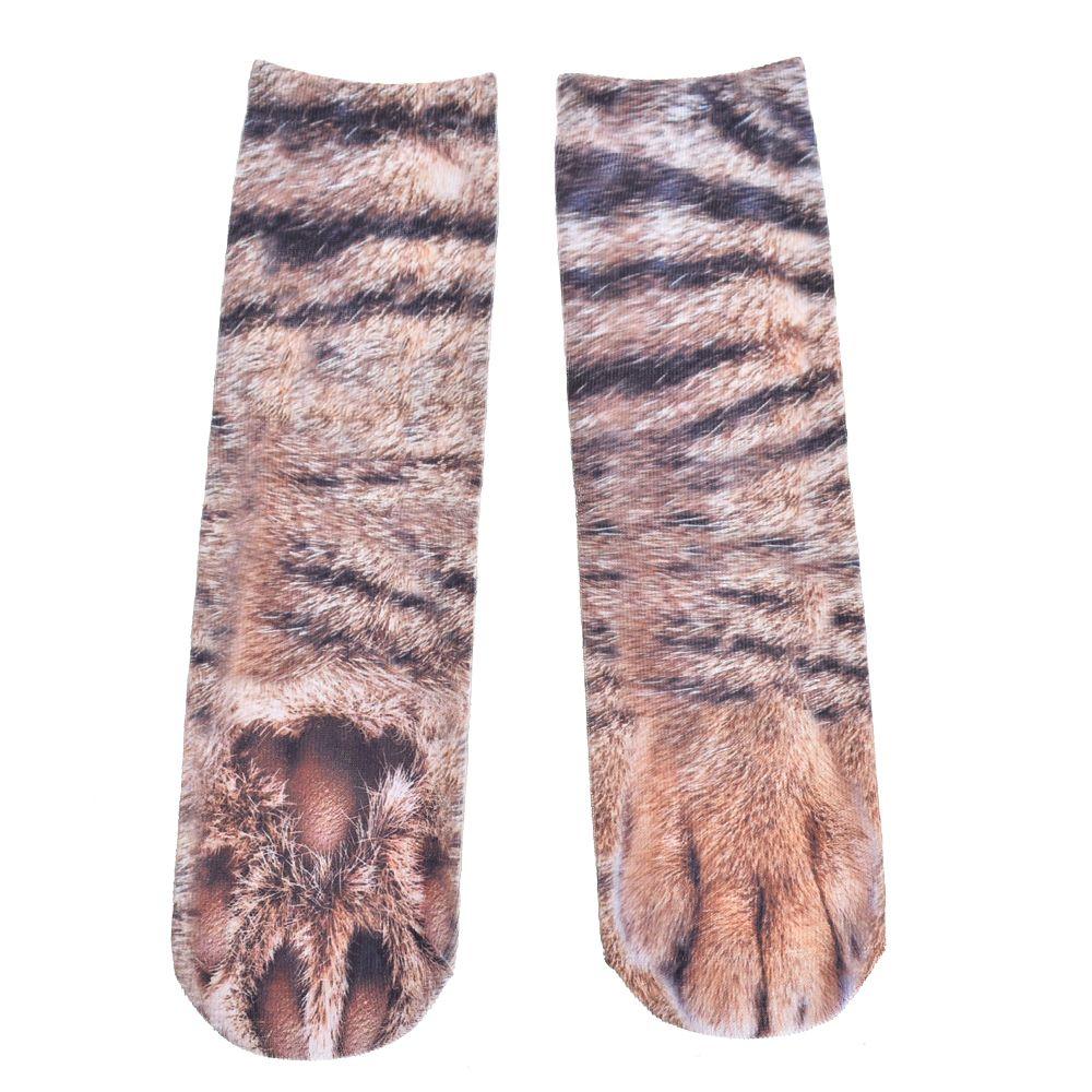 Animal paw Socks Unisex Adult Novelty Animal feet Crew Sublimated 3D Print Socks