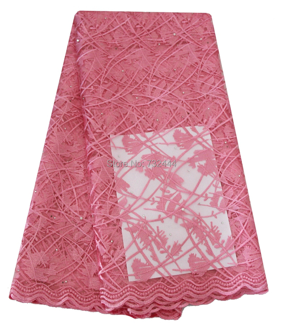 Baby Pink Embroidery Material Cheap Nigerian French Lace Fabrics