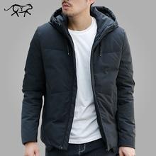 Kış ceket erkekler sıcak yastıklı kapşonlu palto moda rahat marka aşağı Parka erkek ceket ve ceket Hoodies giyim artı boyutu