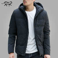 Veste d'hiver hommes chaud rembourré à capuche pardessus mode décontracté marque vers le bas Parka mâle veste et manteau à capuche survêtement grande taille