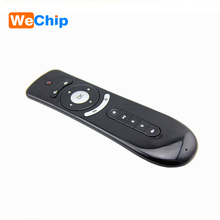 Wechip Gyroscope Mini remote control Fly Air Mouse T2 2 4G Remote 3D Sensing Air Mouse