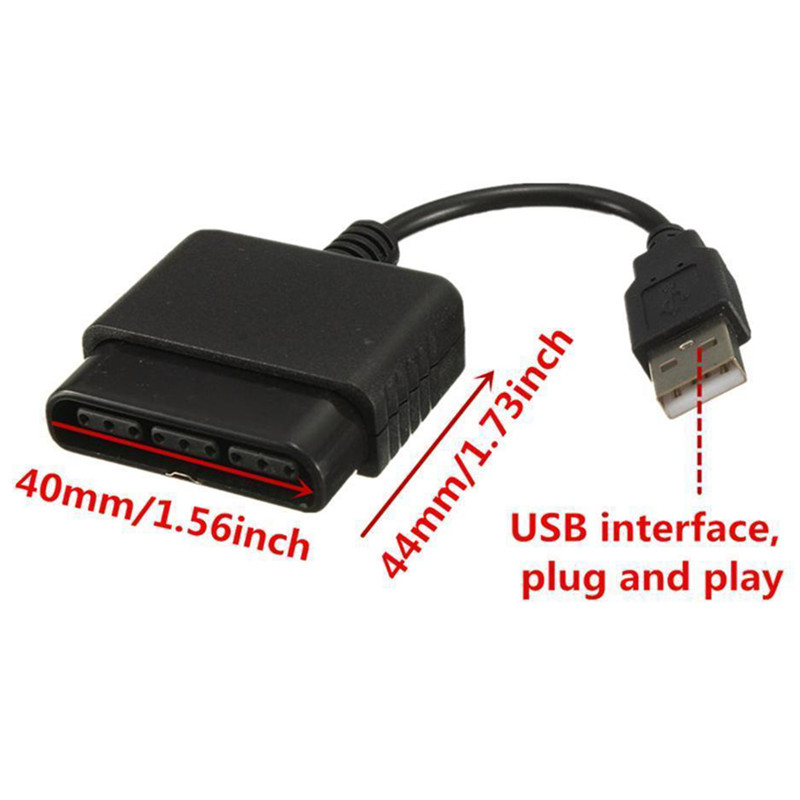 New Joystick USB Dual Player Converter Adapter Cable For PS2 Gamepad