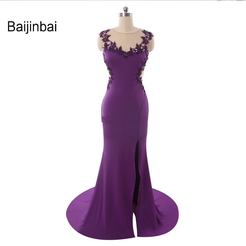 №Baijinbai envío libre púrpura vestidos de fiesta Formal vestidos de ...