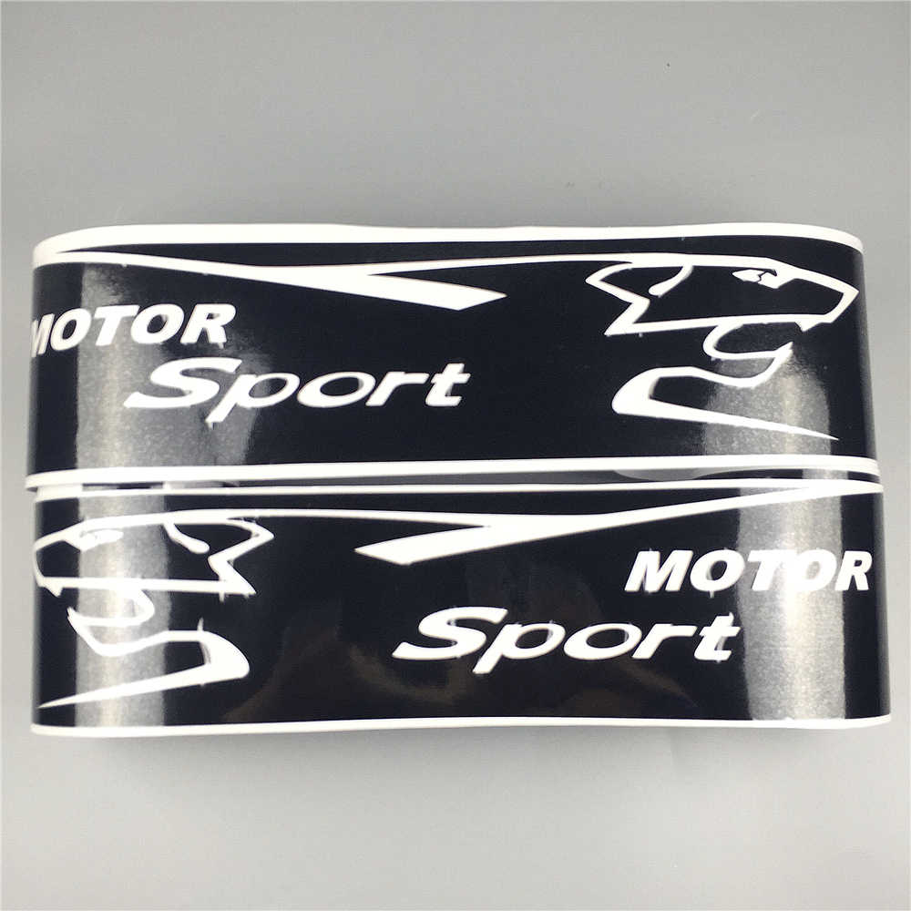 Motor sport graphics side skirt stripes auto door body decor stickers car customized decal for peugeot