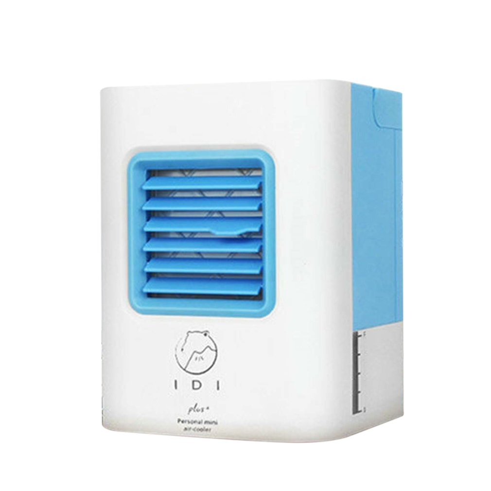 Mini USB Air Conditioner Portable Air Cooling Fan Air Cooler Fans with LED Lights USB Cable Humidifier Purifier for Home Office 3 files mini usb hand fan cooling for home outdoor portable fan air conditioner cooler fans with 1200ma rechargeable battery