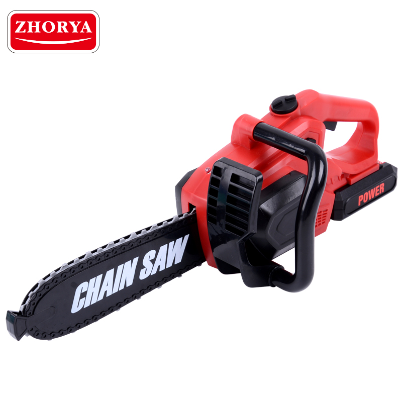 Zhorya Pretend Play Toy Spinning Chainsaw With Sound And Light Power Tool Simulation Toys For Boys Children Presents