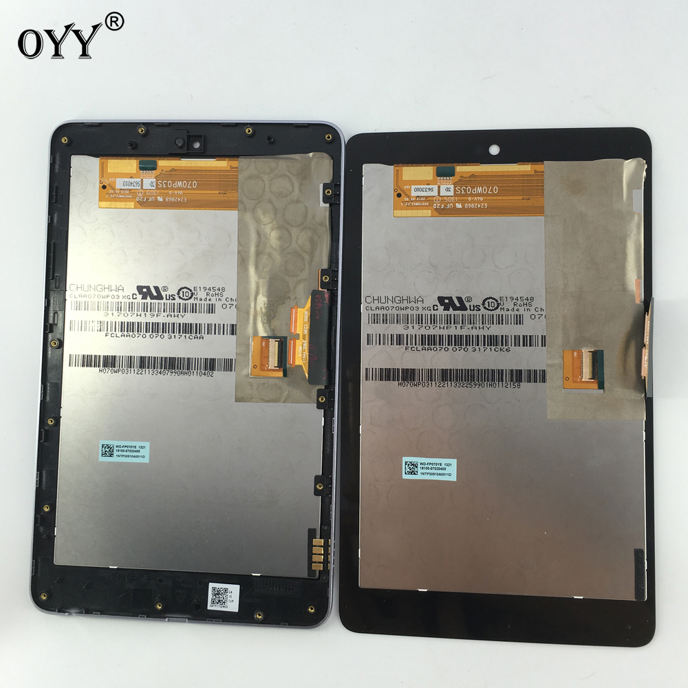 LCD Display Panel Screen Monitor Touch Screen Digitizer Assembly for ASUS Google Nexus 7 1st Gen nexus7 2012 ME370C ME370TG used parts lcd display monitor touch screen panel digitizer assembly frame for asus memo pad smart me301 me301t k001 tf301t