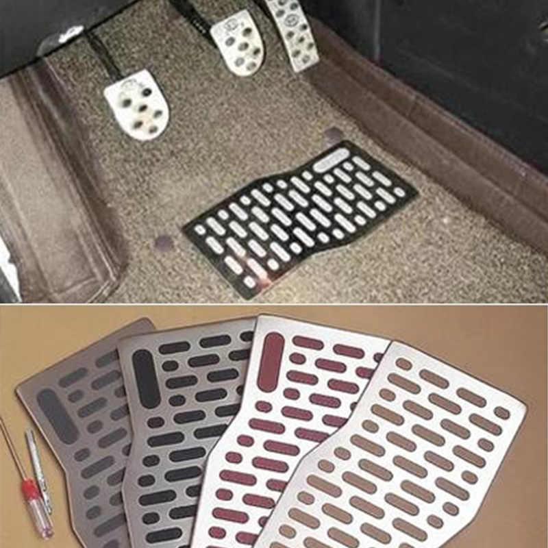 Tapis de sol voiture Auto aluminium plaque de protection pédale repose-pieds tapis pour toyota corolla avensis yaris chr auris camry tacoma 4runner
