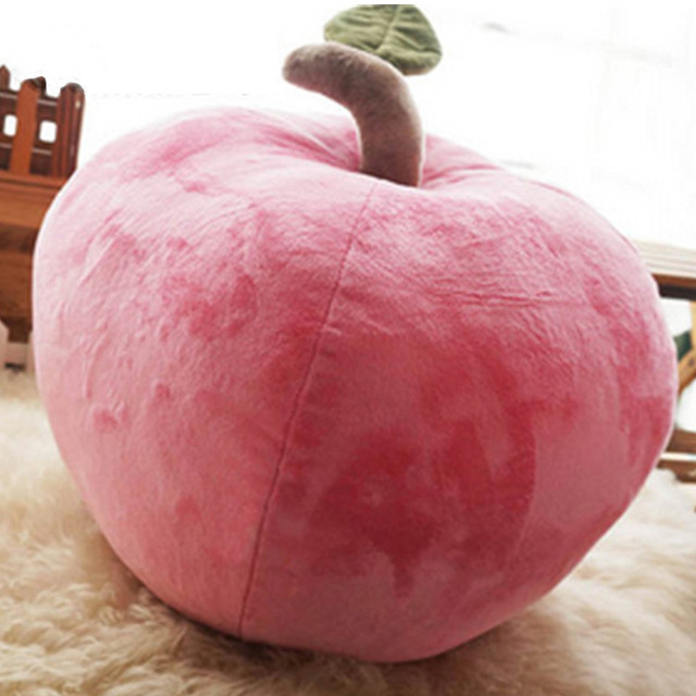 Fancytrader 60cm Simulated Apple Plush Pillow 24inch Stuffed
