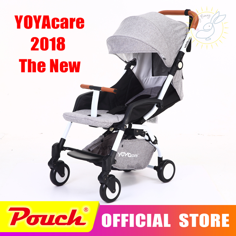 2018 YOYAcare baby strollers ultra-lightweight folding can sit can lie high landscape umbrella baby trolley winter and summer baby stroller ultra portable umbrella car baby winter summer hand can sit and lie folding child baby car suspension