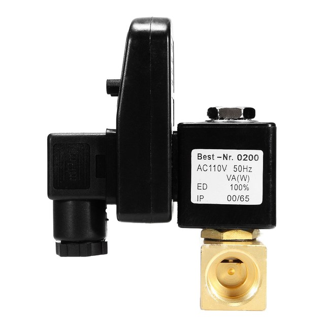 "1Pcs AC110V 50Hz 1/2"" Electronic Timed Air Compressor Automatic 2-way Timing Drain Valve"