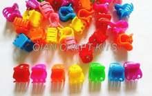 500 шт разноцветные радужные мини заколки для волос кукол или