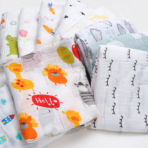 2019 Brand New Cotton Baby Blankets Newborn Kids Muslin Swaddle Wrap Sleeping Bags Baby Carriage Pram Cradle Car Accessories Lahore