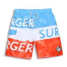 Hot Sale Men's Plus Size Board shorts 2016 Summer New Quick Drying Male Wear Boy Long Striped Bermuda Masculina(China)