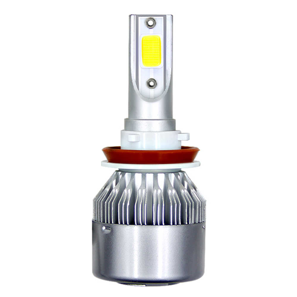 1Pc  H11 H4 LED H7 LED Bulb Car Headllight H1 H3 H13 880 9005 9006 9004 9007 72W 8000LM 6000K Fog Light Auto Headlamp Lamps