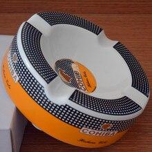 COHIBA moda 4 Titular de la Cerámica de Alta definición 250*250*85mm de Gran Tamaño Ronda Cigarro Cenicero