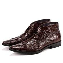 Осенне-зимние ботинки ручной работы, мужские ботильоны на шнуровке, короткие кожаные ботинки, ботинки из воловьей кожи, ботинки «Челси» из натуральной кожи