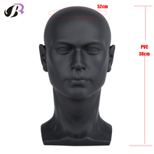 Plastic Men Mannequins Head Dummy Realistic Male Wig Mannequin Dummy Head For Hat Sunglass Display Manikin Head