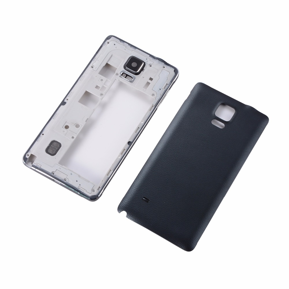 For Samsung Galaxy Note 4 N910F N910A N910P N910C Battery Back Cover + Housing Middle Frame Plate Bezel(Single Card Version)