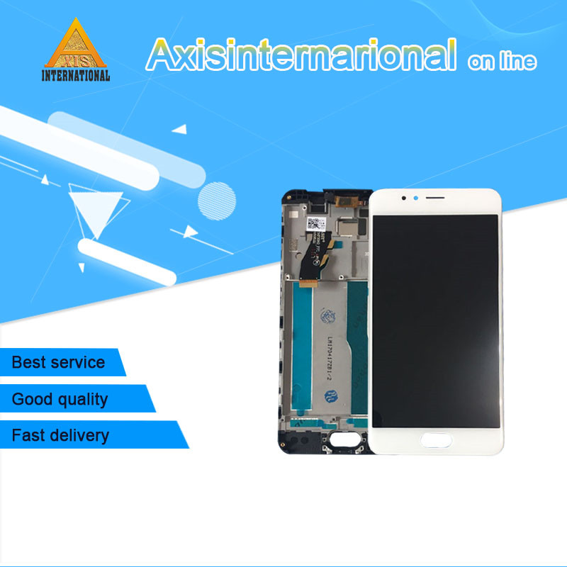 Axisinternational LCD Screen Display Touch Digitizer With Frame For 5 2 Meizu M5S Meilan 5S White