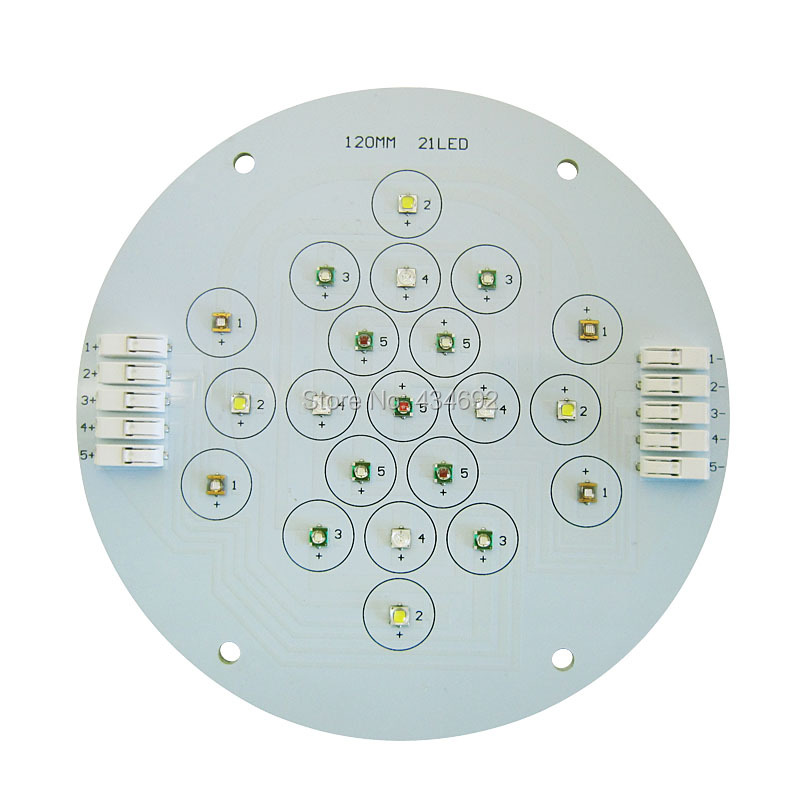 5 Channel 21Leds Cree Semileds Led Coral Emitter Lamp Light For DIY Ecotch Marine XR30W XR15W