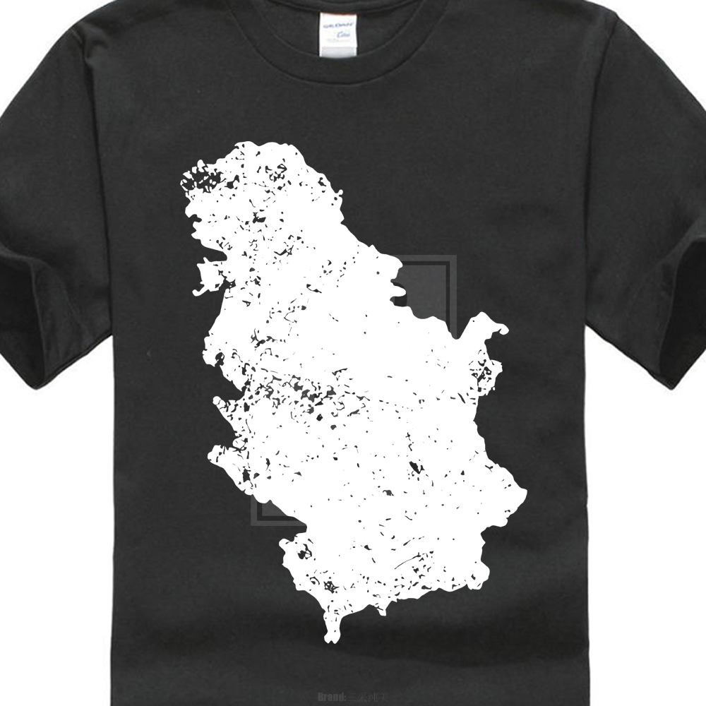 Serbia And Kosovo Map Shirts Love Native Born State T-shirt 2018 Summer Fashion High Quality New Mens Casual Summer
