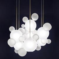 Europe Modern Milky White Glass Globes Led Pendant Lights Dining Room Lustre Luminarias Led Hanging Lamp Suspend Lamp Fixtures