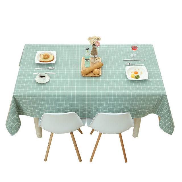 Simple and modern cotton black and white lattice upscale waterproof cloth tablecloths table table cloth