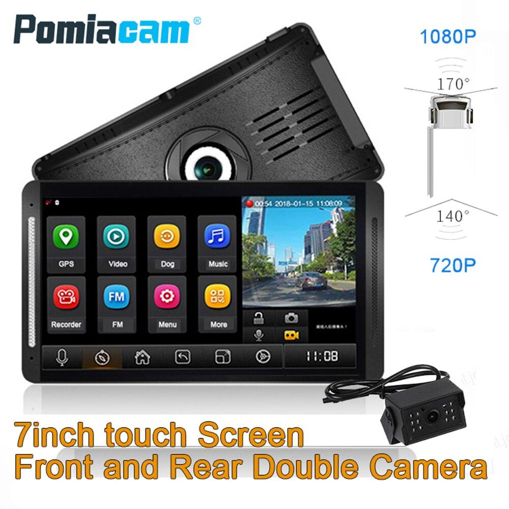 Z7 Camion registratore ADAS GPS 7 pollici monitor con telecamera Posteriore, doppia lente vista Sistema di Monitoraggio per il Bus RV Camper CamionZ7 Camion registratore ADAS GPS 7 pollici monitor con telecamera Posteriore, doppia lente vista Sistema di Monitoraggio per il Bus RV Camper Camion