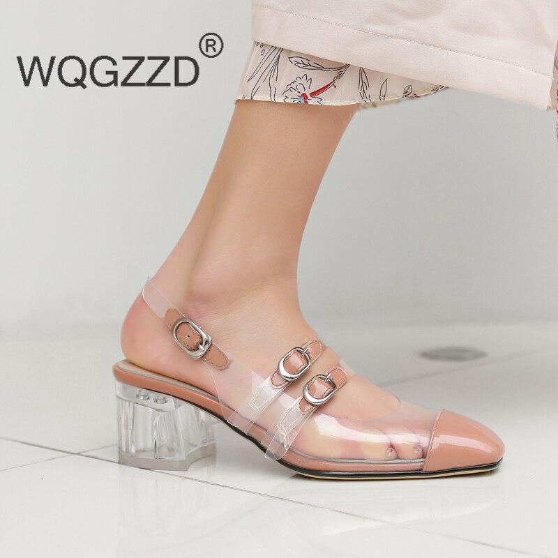 Chaussures Femme black Femmes Gladiateur Mode New Sandales Apricot De Transparent Summer jqUMSGLVpz