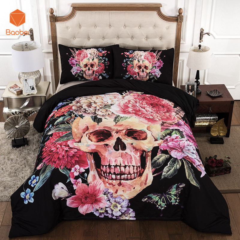 3Pcs Skull beding set Fashion 3Pcsinclude 2Pillowcase+Duvet Cover Pillow Case 19x29 (48cmx74cm) Bedding set King Twinsize Sj743Pcs Skull beding set Fashion 3Pcsinclude 2Pillowcase+Duvet Cover Pillow Case 19x29 (48cmx74cm) Bedding set King Twinsize Sj74
