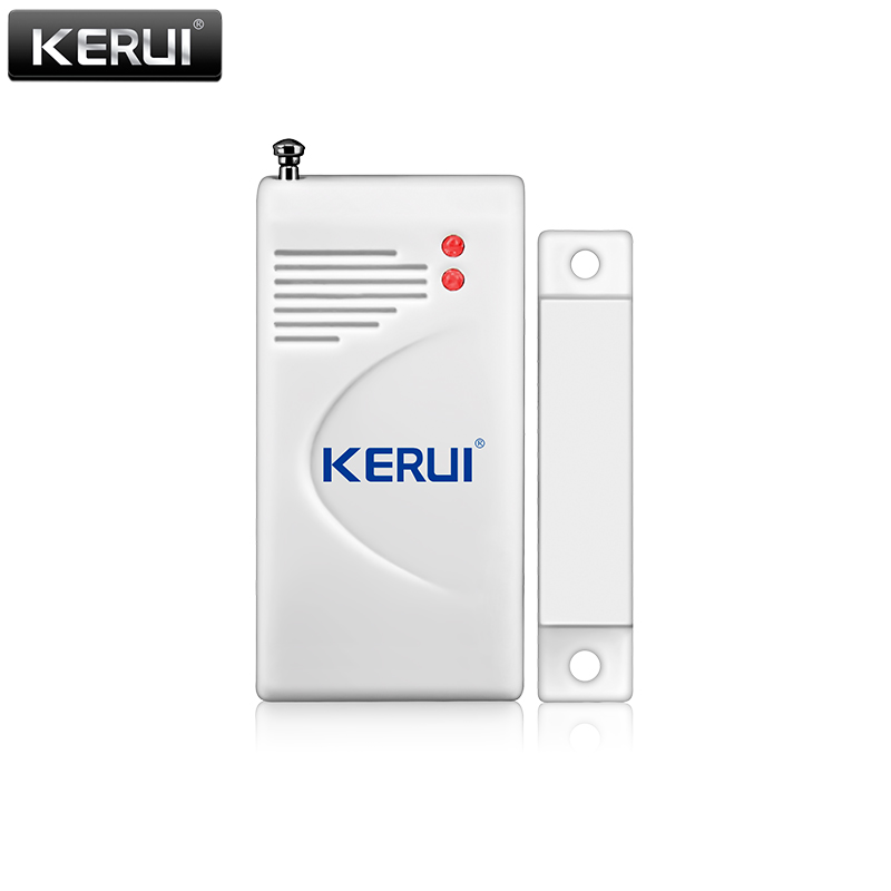 KERUI New Wireless Extra Door Window Magnetic Sensor for Home Security Voice Burglar PSTN GSM WIFI Alarm System Battery Included new kerui wireless portable remote control for gsm pstn home alarm system kr8218g home security voice burglar smart alarm system
