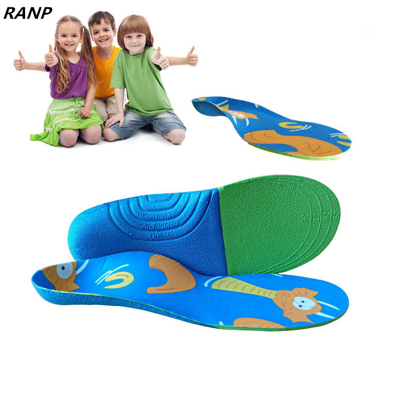 Fashion Children Massage Pain Relief Orthotic Sport Insoles Flat Foot  Health Care Arch Support Orthopedic Plantar Fasciitis Pad kotlikoff leather orthotic insoles flat foot shoe insole high arch support orthopedic pad for correction ox leg health foot care