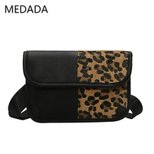 MEDADA  Crossbody Bags For Women Messenger Fashion Female 2019 New Leopard-print Single Shoulder