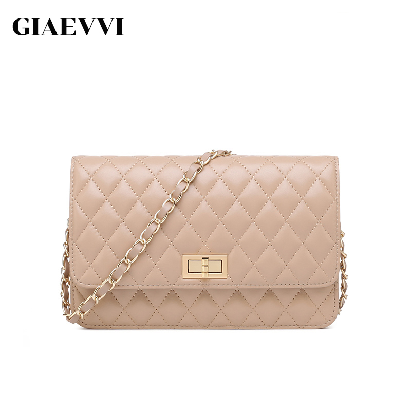 GIAEVVI women messenger bags genuine leather famous brands shoulder bag luxury handbag women crossbody bags designer handbags giaevvi luxury handbags split leather tote women messenger bags 2017 brand design chain women shoulder bag crossbody for girls