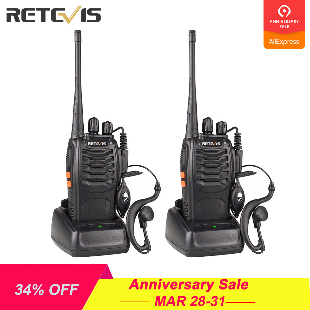 2 stücke Retevis H777 Walkie Talkie 3 W UHF Radio Station 400-470 MHz Handheld Transceiver Radio Communicator USB ladegerät