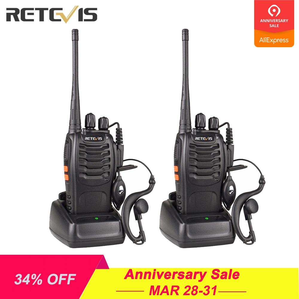 2pcs Retevis H777 Walkie Talkie 3W UHF Radio Station 400 470MHz Handheld Transceiver Radio Communicator USB Charger