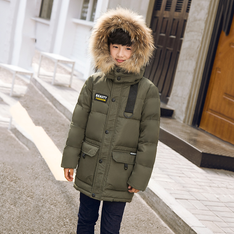 New baby Boys Winter Coat 5 to 16 Years Hooded Children Down Baby Boy Winter Jacket Boys Kids Warm Outerwear Parks 2018 baby winter coat boy hooded children patchwork down baby boy winter jacket boys kids warm outerwear parks 5 to 14 years